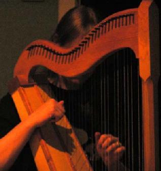Jo playing her Bohemian harp