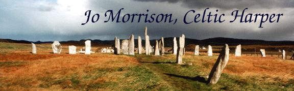 Jo Morrison's logo, photo of Callanish